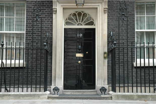 Front door of Number 10 Downing Street